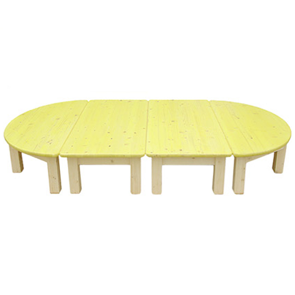 친환경책상(4개1세트)-노랑