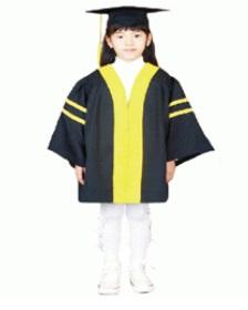 졸업가운(검정) 4세, 7세용