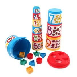 [밧핫] 숫자 퍼즐 컵 쌓기